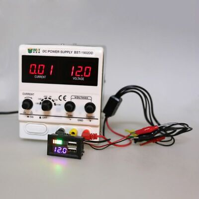 LED Digital Display Mini Voltage Meter Volt Tester For DC12V Car USB 5V2A output