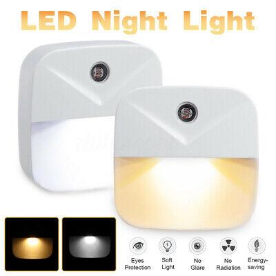 Mini LED Night Light Plug-In Wall Lamp Lighting Sensor Contr