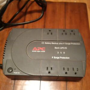 6 Outlet APC Back-UPS ES 350 Surge Protector And Battery Backup