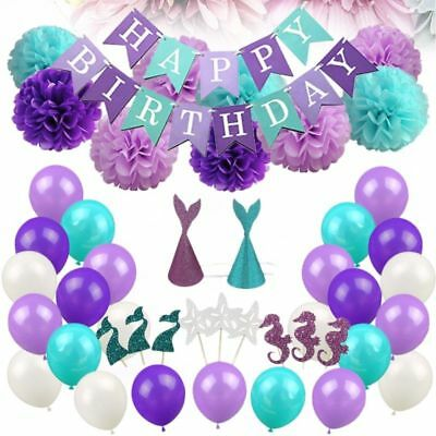 76 Pcs Ballon Set Mermaid Durable Exquisite Party Decor for Baby Shower Birthday