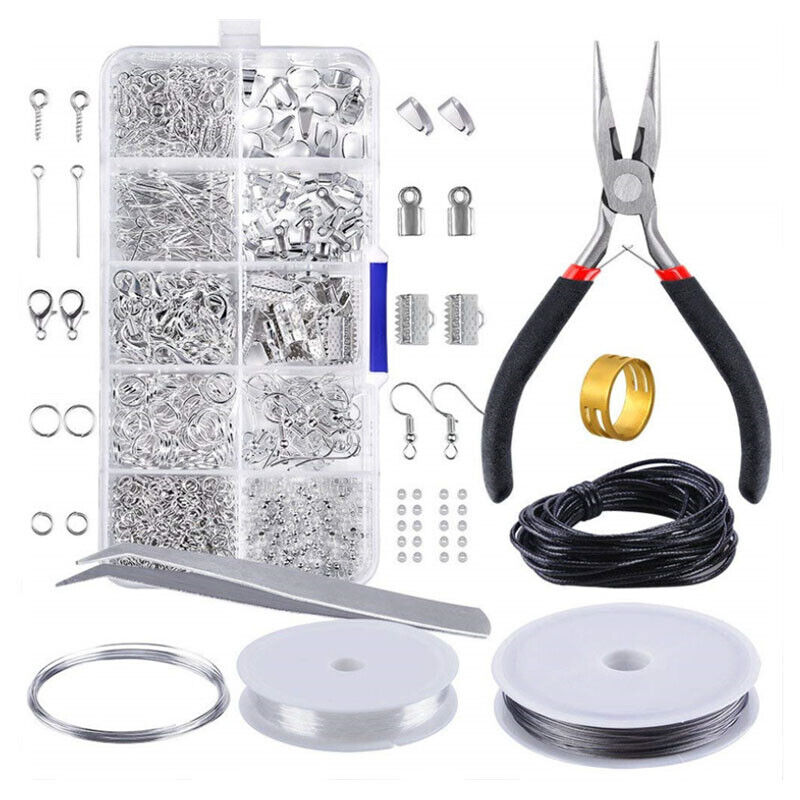 Jewelry Making Kit Wire Anklets Sterling Beading Repair Tools Craft Supplies