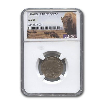 Click now to see the BUY IT NOW Price! 1916 BUFFALO NICKEL DOUBLE DIE OBVERSE MS 61 NGC