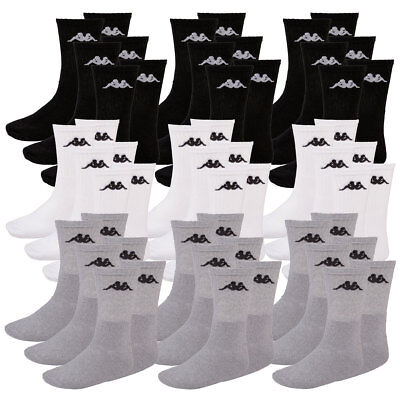 Baumwolle Socken Wandern (Kappa Socken, 18 Paar, Freizeit -, Sport -, Wander -,Tennissocken, bequem, weich)