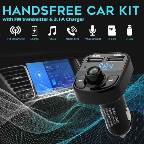 Car Bluetooth Kit FM Transmitter Music Player Radio Adapter