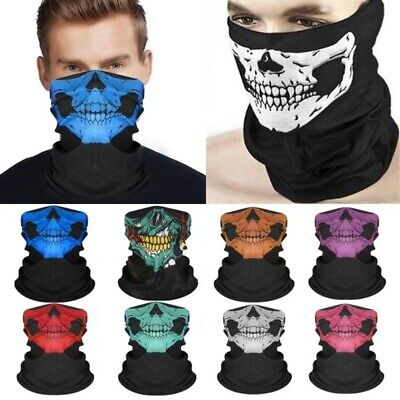 Multi-Purpose Bandana Tube Skull Face Mask Neck Warmer Scarf Dust Shield Snood