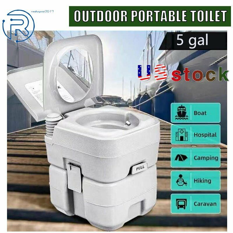 Commode Potty Toilet Potty Portable RV Toilet for Camping Boating Traveling 5Gal