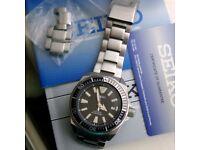 Seiko Prospex Samurai. Stainless steel Automatic Mans divers watch.