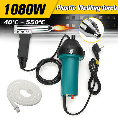 1080w Plastic Hot Air Gas Torch Welding Gun Heat Welder Soldering Pistol Tool
