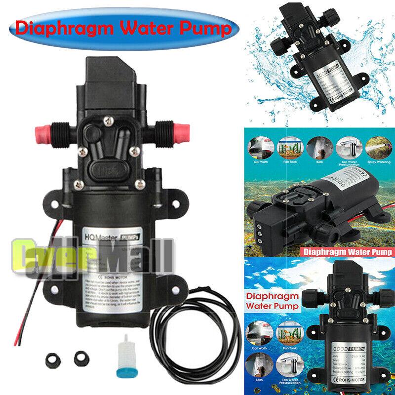 12V-130PSI Water Pump Self Priming Pump Diaphragm High Pressure Automatic Switch
