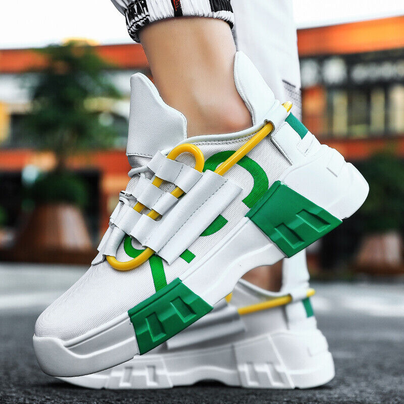 Fashion Men Casual Shoes Spring Summer Sneakers Lace-Up Brea