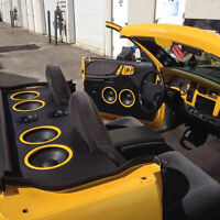 CAR AUDIO-STEREO-AMP&SUB-SPEAKERS-DOUBLE DIN INSTALLATION