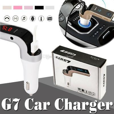 CARG7 SILVER BLUETOOTH Kit Voiture Transmetteur FM  MP3 Player SD USB Chargeur