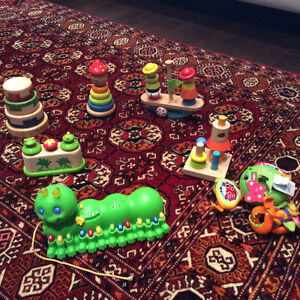 Wooden and electronic toys for baby toddler
