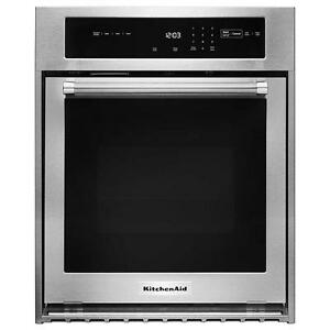 Four encastré stainless 24'', Convection, Autonettoyant, KitchenAid