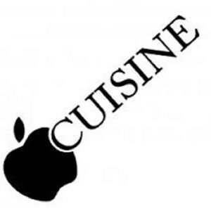 sticker d co autocollant vinyle adh sif cuisine pomme ebay. Black Bedroom Furniture Sets. Home Design Ideas