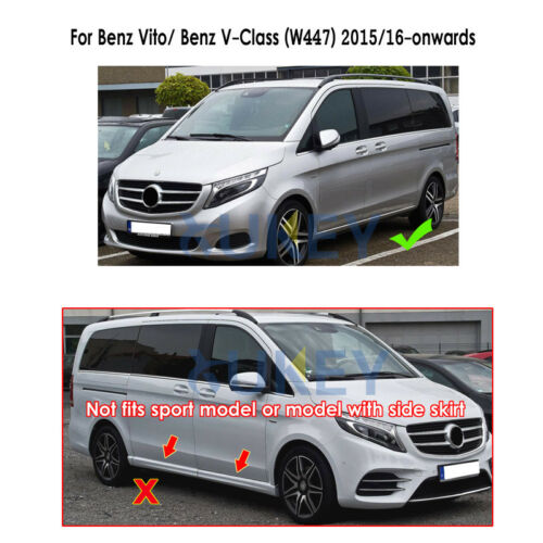 Lxzy 4Pcs Car Mud Flaps for Mercedes-Benz V Class Vito W447 2016-2020 2017 2018 2019,Front Rear Mudflaps Rubber Splash Guards Splash Flap Set with Screws Full Wheel Fender Protection Accessories