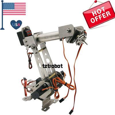 Diy Kit 6dof Robotic Arm Clamp With Servos For Robot Arduino Scm Unassembled Us