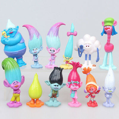 Xmas Gift Popular Movie Trolls Poppy Branch Action Figures Cake Toppers Doll Toy