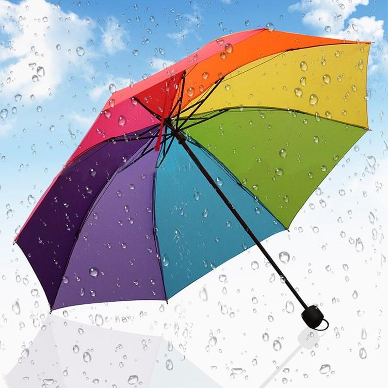 WN  umbrella Folding Sun Umbrella Sun Protection UV Umbrellas Female Tri-fold Umbrella Male Rain Umbrella Against Wind