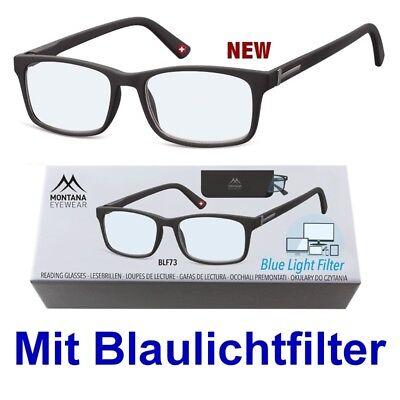 Lesebrille MONTANA BOX73-BLF mit BLAUFILTER - Stärken 0,00 bis +3,50
