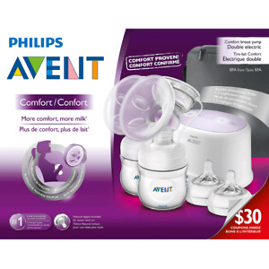 Avent double electronic breast pump