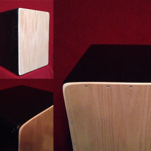 Cajon Drum 2 in 1 Flamenco style with snare n tribal plates