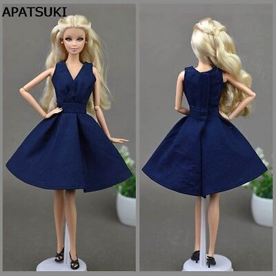 Blue Handmade Doll Dress For Barbie Doll Clothes Party Dresses Doll Accessories