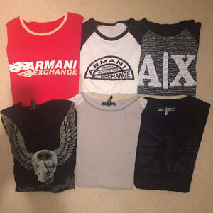 6 T shirts Armani Exchange A X I N C Guess Tops Size S