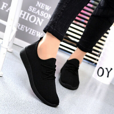 Women Ladies Lace Up Breathable Trainers Sport Running Sneakers Pumps Shoes Size