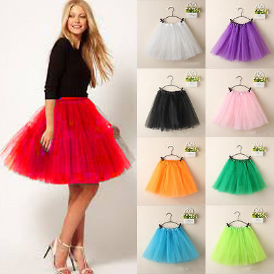Hot Fluffy Adult Novelty Colorful  Dress Women Tulle Tutu Dance Ballet - Colored Tutus