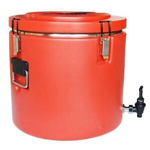 Stainless Steel Insulation Barrels Drink Container Warming Equipment with Faucet 220381