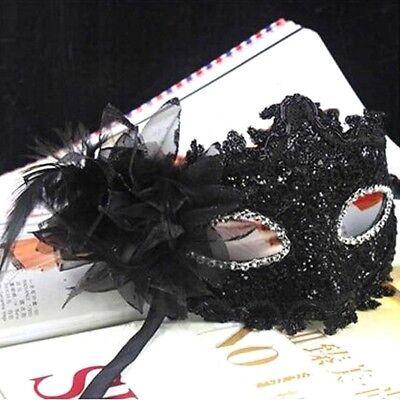 Lace Venezianische Maske Maskerade Karneval Party Ball Kostüm Schwarz MG3D ()
