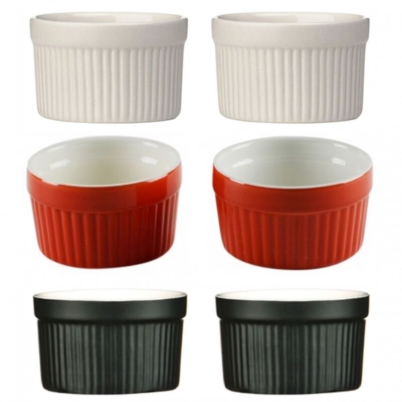 Souffle Dessert Pudding Crème Brulee Bowl Set Of 2 Kitchen Ceramic Ramekin Dish
