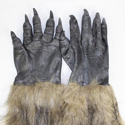 Wolf Werwolf Krallen Handschuh Halloween Kostüm Cosplay Pfoten Handschuh #E0Y