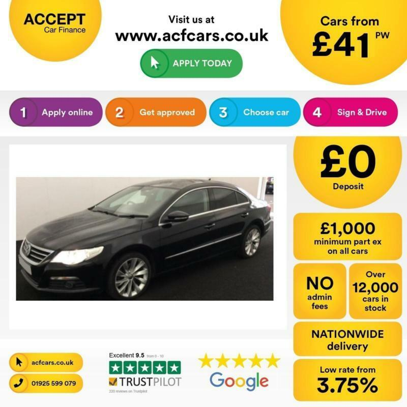 Volkswagen Passat CC 2.0TDI ( 170ps ) FROM £41 PER WEEK.