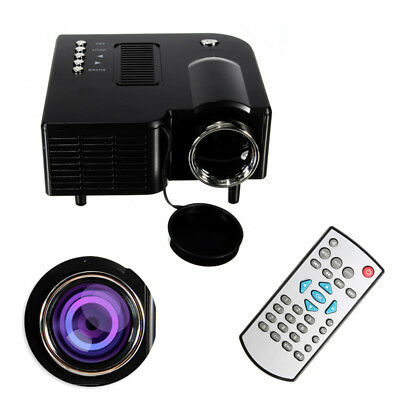 Portable 1080P Full HD Mini Projector Home Theater Cinema AV VGA USB HDMI Solid