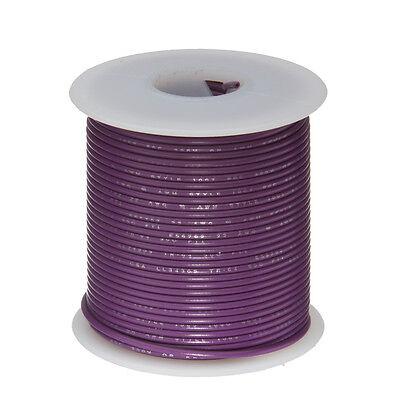 22 Awg Gauge Solid Hook Up Wire Violet 100 Ft 0.0253 Ul1007 300 Volts