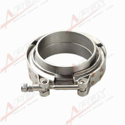 """Downpipe Intercooler Turbo 2.25"""" V-Band Clamp & Flange Kit Mild Steel Flange"""