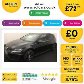 Volkswagen Golf GTD FROM £72 PER WEEK!