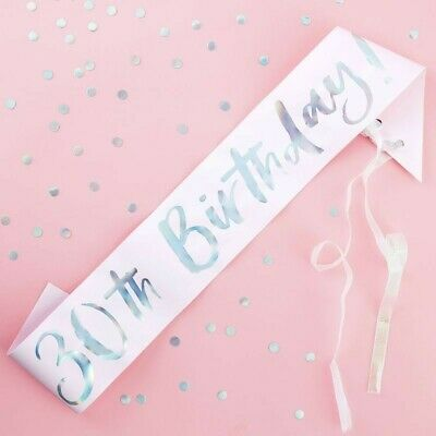 30TH BIRTHDAY SASH - PASTEL PARTY, Milestone,Celebration,Accessories,Iridescent - 30th Birthday Accessories