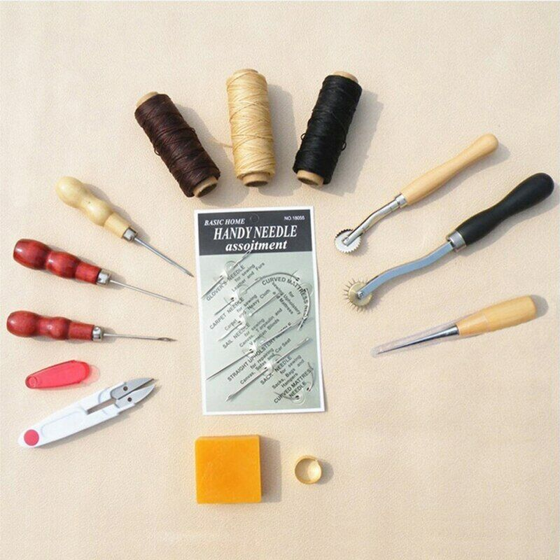13PCS/SET DIY supplies accessories tools leather craft hand-sewn sewing tools