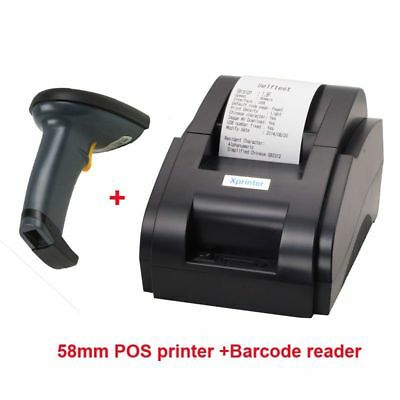 Barcode Scanner And Thermal Printer Usb Port Supported Business Printing Device