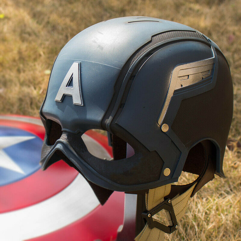 1/1 Captain America WEARABLE Helmet Replica  REALISTIC PAINTED Version Cos Props