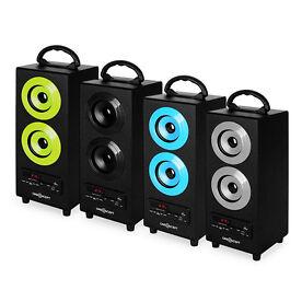 Portable Bluetooth Speakers USB/SD/FM Radio- Various Colours