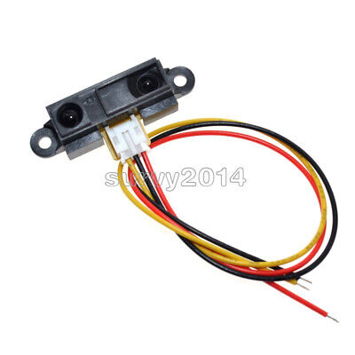 5pcs Gp2y0a21yk0f Sharp Ir Analog Sensor Distance 10-80cm Cable For Arduino