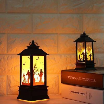 Halloween Vintage Pumpkin Castle Light Lamp Party Hanging Decor LED Lantern