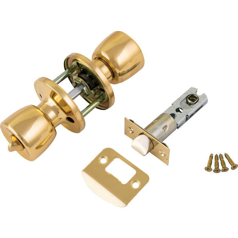 Design House 753103 Cambridge Privacy Door Knob Set Brass