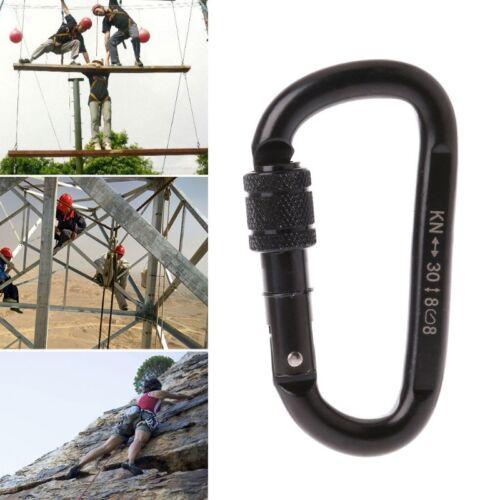 30KN Professional Carabiner D Shape Lock Rock Climbing Equip