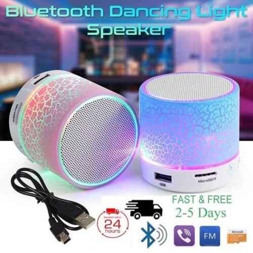 LED Portable Mini Bluetooth Speaker Wireless Bass Speaker With TF USB FM Radio