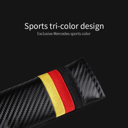 Quality Germany Flag Color Carbon Fiber Car Seat Belt Cushions Shoulder Pad 2*